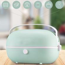 Elektryczne podgrzewane pudełko na Lunch pojemnik na żywność ze stali nierdzewnej cieplej szkoła biuro ogrzewanie Bento Boxs parowiec gorący ryżowar 220V tanie tanio HAOYUNMA CN (pochodzenie)