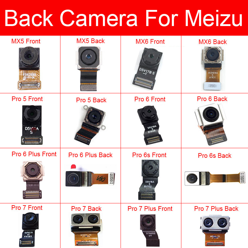 Front & Rear Main Camera For Meizu MX5 MX6 Pro 5 6 6s 7 Plus Back Big Samll Camera Flex Ribbon Cable Replacement Repair Parts