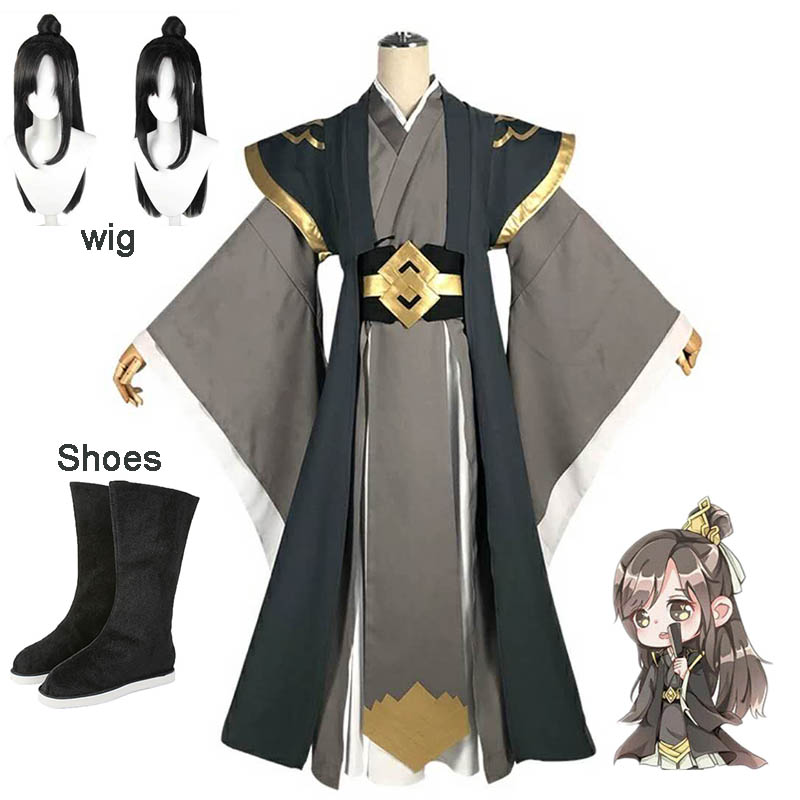 The Founder Of Diabolism Nie HuaiSang Adult Cosplay Costume MO DAO ZU SHI Anime Ancient Chinese Men Women Costume Full Set Wig