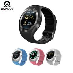 CAINUOS 2019 nowy inteligentny zegarek Bluetooth inteligentny zegarek android telefon GSM Sim zdalna kamera Sport krokomierz cyfrowy zegarek