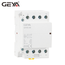 GEYA GYHC 4P 40A 63A 220V/230V 50/60HZ Din Rail Household AC Modular Contactor 4NO or 2NC2NO