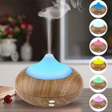 4 #300ml nawilżacz do drewna ultradźwiękowy dyfuzor zapachowy LED dyfuzor olejku aromaterapeutycznego z 7 kolorowa lampa Led