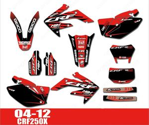 04-12 CRF250X Free Customized Motorcycle Graphics Stickers Sticker Kit Decal for Honda CRF 250X 2004- 2012 2005 2006 2007 2008