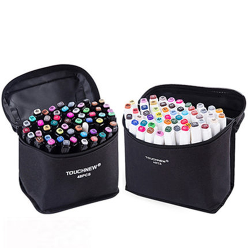 TouchFIVE Art Markers Sets 12/30/40/60/80/168Colors Anime Student Design Sketch Manga Alcohol Marker Pen For Drawing Graffiti