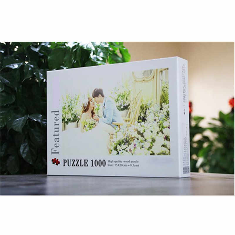 Duże, spersonalizowane Puzzle 300-2000 sztuk standardowa układanka dodać swoje zdjęcie na zdjęcia z drewna Puzzle swoje zdjęcie Puzzle prezent na ślub/urodziny