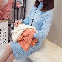 2010# толстые теплые трикотажные кофты для грудного вскармливания с высоким воротником, платье, осенне-зимняя одежда для кормления беременных женщин