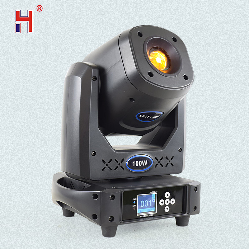 Stage Lighting Effect 100W Led Moving Head Spot Light 2 Gobos Plates Color Mixing Effect For Bar Dj Party