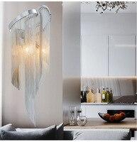 Creative Home Hotel Lighting Luxury Chain Light Wall Lamps Mirror Light Stream Sconce Wall Lights Bathroom Light Bedroom Lamp