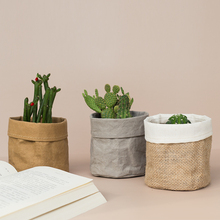 Plant-Bag Coats Cosmetic-Storage-Bag Flower-Pot Kraft-Paper Home-Decoration-Accessories