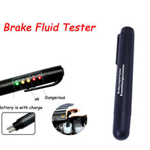 Accurate Oil Quality Check Pen Universal Brake Fluid Tester Car Brake Liquid With 5 LED Tester Vehicle Auto Testing Tool 813(China)