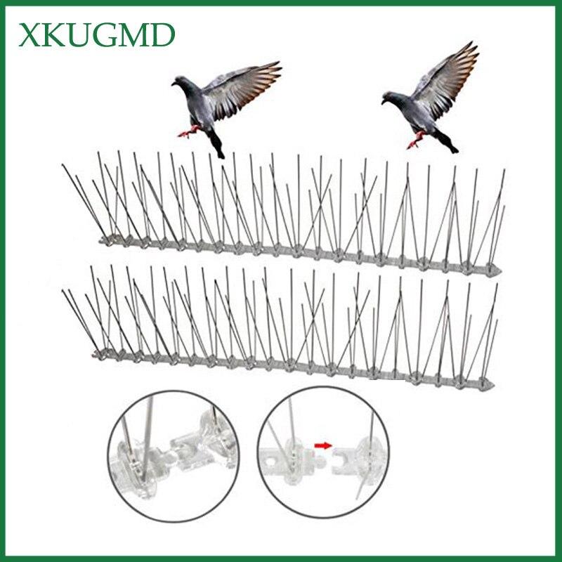 20 piezas caliente 10M huerto de acero inoxidable aguja a prueba de aves instalación al aire libre repelente de pájaros Villa instalada lejos de dispositivo de aves