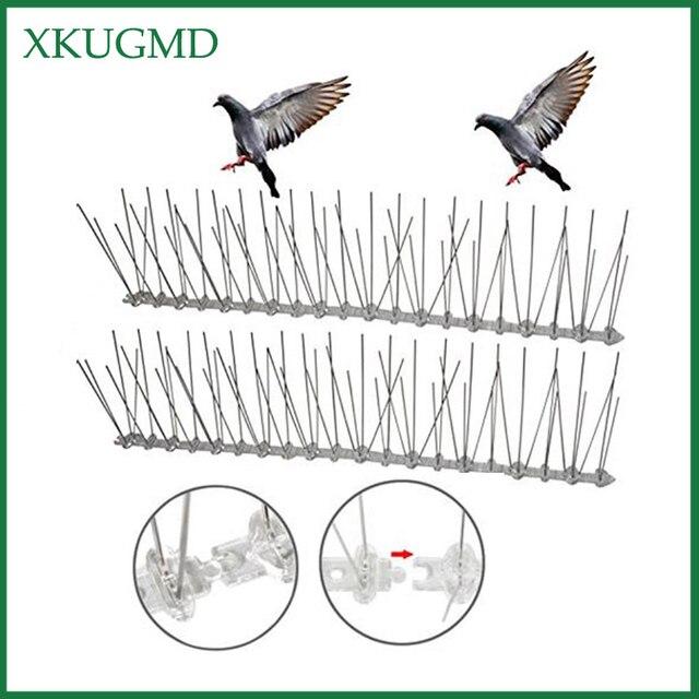 חם 20PCS 10M מטע נירוסטה ציפור הוכחה מחט חיצוני התקנה ציפור Repeller וילה מותקנים במרחק ציפור מכשיר