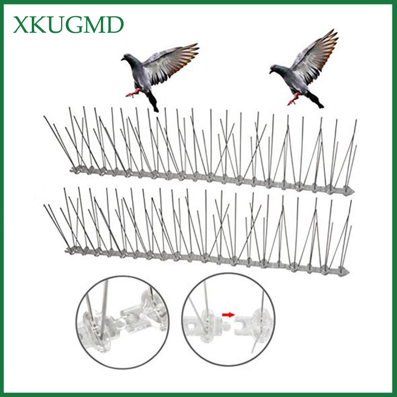 Image 1 - Hot 12PCS 6M Orchard Stainless Steel Bird proof Needle Outdoor Installation Bird Repeller Villa Installed Away From Bird Device-in Repellents from Home & Garden