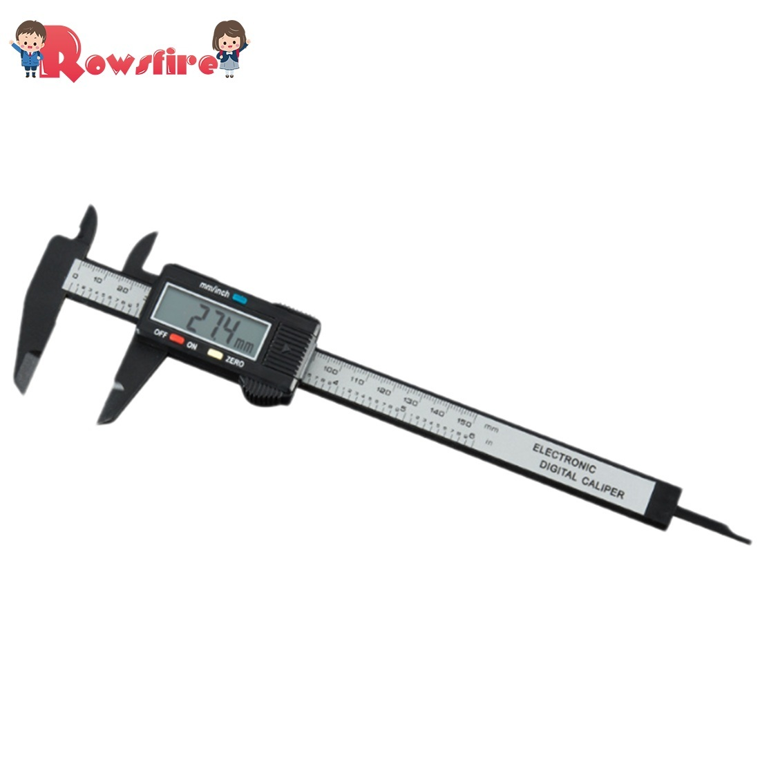 Rowsfire 1 Pcs 0-150mm Electronic Digital Display Vernier Caliper For Water Gel Beads Modification - Cool Black Value Edition