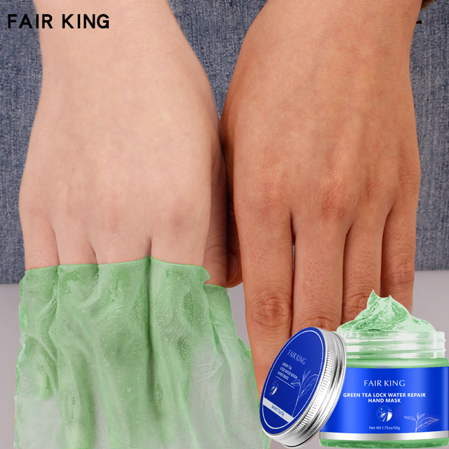 Green Tea Moisturizing Hand Wax Whitening Skin Hand Mask Repair Exfoliating Calluses Film Anti-Aging Hand Skin Treatment Cream