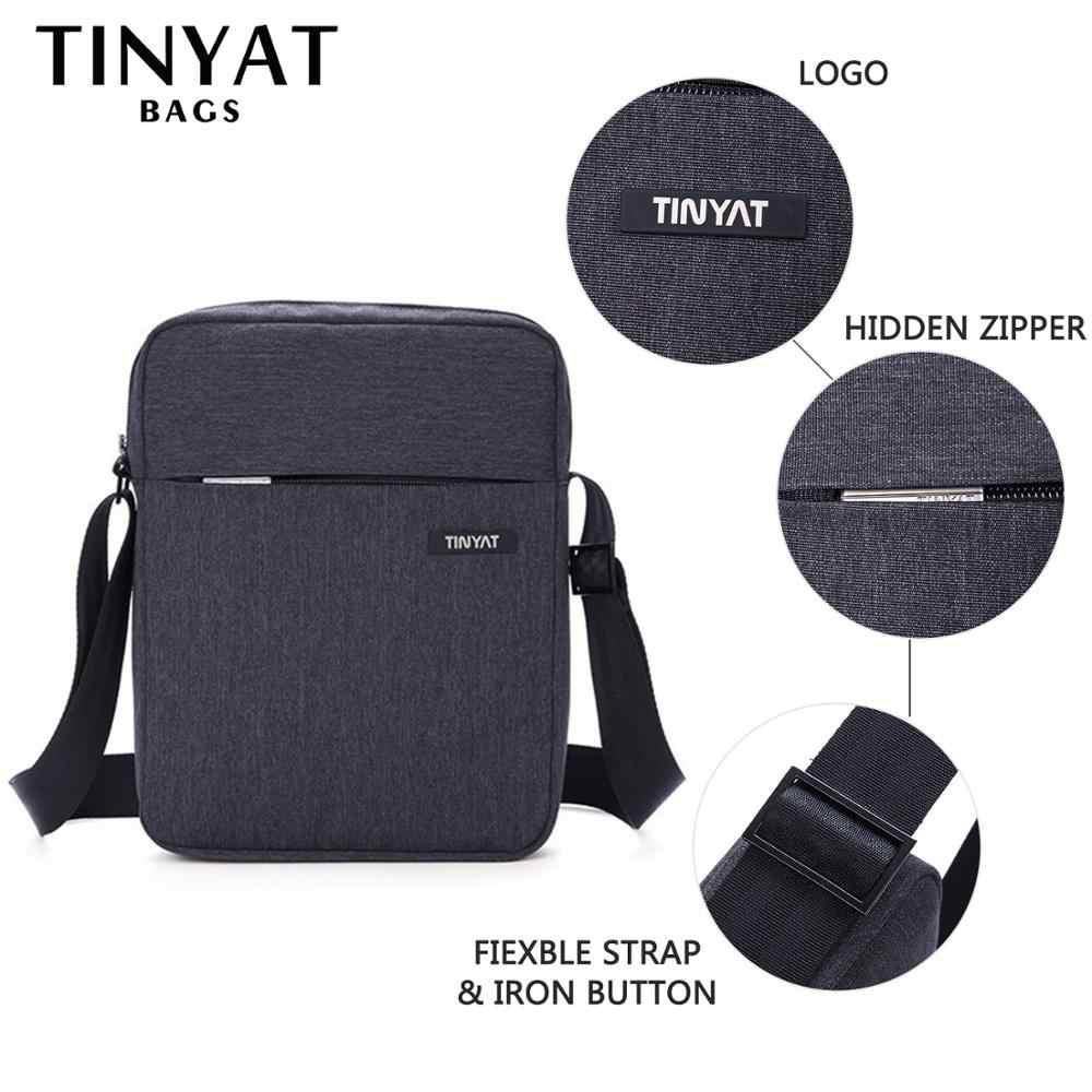 Tinyat bolsas masculinas à prova de choque bolsas de ombro para 9.7 pad almofada de viagem crossbody sacos de lona bolsa de ombro à prova dwaterproof água