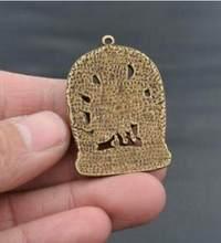 En laiton pur chinois sculpté, collectionneur, petites amulettes exquises