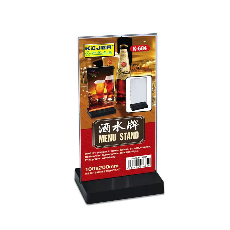 Kejea T-Slot Table Card Table Stand 100*200 Double-Sided Transparent Wine Signboard Display Card Table Card Currently Available