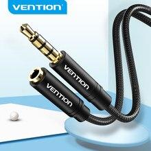 Vention 3.5mm cabo de extensão áudio jack 3.5mm macho para fêmea aux cabo para fones de ouvido huawei p20 iphone 6s mp4 jogador aux cabo