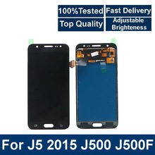 For Samsung Galaxy  J5 2015 J500 J500F J500FN J500M Phone LCD Display Touch Screen Digitizer Assembly with Brightness Control a lcd display with touch screen digitizer assembly for samsung galaxy j500 j500f j500m free shipping