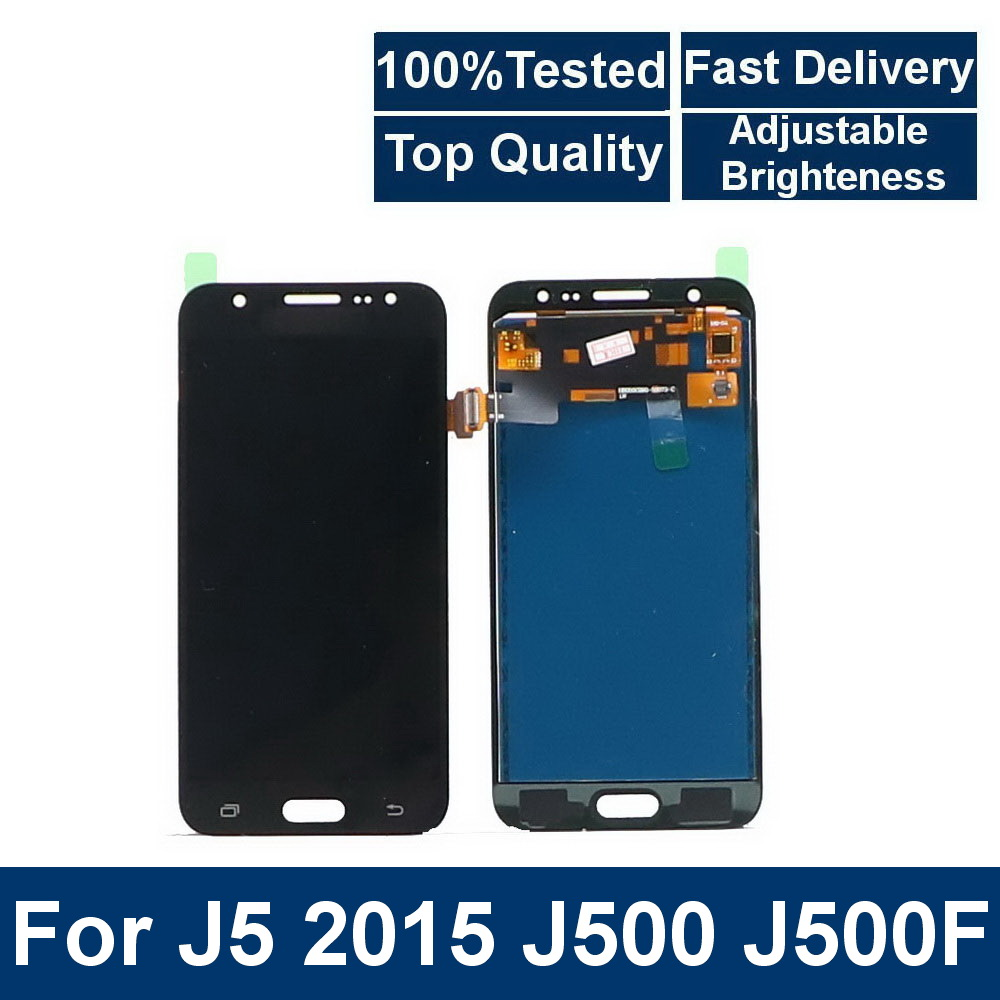 For Samsung Galaxy <font><b>J5</b></font> 2015 <font><b>J500</b></font> J500F J500FN J500M Phone LCD <font><b>Display</b></font> Touch Screen Digitizer Assembly with Brightness Control image