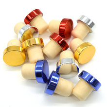 10pcs Red Wine Bottle Stopper Polymer T Plug Cap Burette Tube Silicone Lid 19mm Accessories Bar Tools Free Shipping