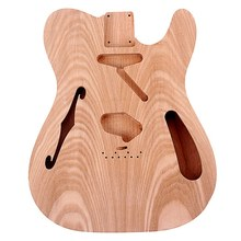 Unfinished Electric Guitar Body Blank Guitar Body Barrel DIY Mahogany Wood Body Guitar Parts Accessories for Guitar(China)