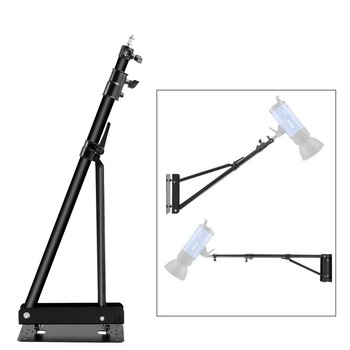 Meking Wall Camera Mount with Triangle Base Adjustable Boom Arm Up to 6ft for Photography Studio Video Flash Ring Light  Softbox godox 50cm 130cm strip beehive honeycomb grid softbox with for bowens mount studio strobe flash light photography lighting