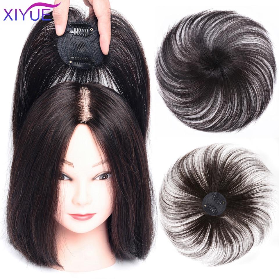Сменные волосы, покрывающие белые волосы, натуральные невидимые бесшовные зажимы для волос, челки, Синтетические Искусственные волосы челк...
