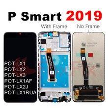FoxFix ekran Huawei P akıllı için 2019 LCD ekran POT LX1 dokunmatik ekran Digitizer meclisi P akıllı 2019 LCD çerçeve ile değiştirin