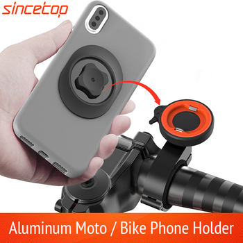 Universal Motorcycle Bike Mobile Phone Holder Bicycle Moto Aluminum Quick Mount Stand Mountain Bike Handlebar Bracket for Harley