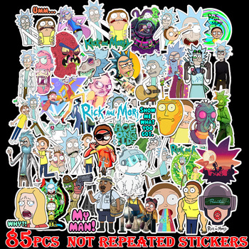 85pcs Drama Rick and Morty 2019 Stickers Decal for Snowboard Laptop Luggage Car Fridge DIY Styling Vinyl Home Decor Pegatina 35pcs rick and morty vinyl stickers decal for window car laptop