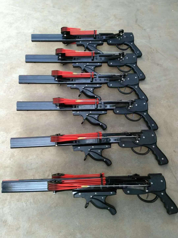 LD V5 반자동 슬링 샷 사냥 낚시 활 강력한 투석기 릴 연속 촬영 40 탄약 및 강철 볼 화살표