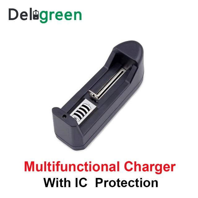 Deligreen Universale 18650 Batteria Caricabatterie Li ion Ricaricabile Caricabatterie Intelligente per 14500 ,16340 Batterie 1pcs SPINA DEGLI STATI UNITI UE 4