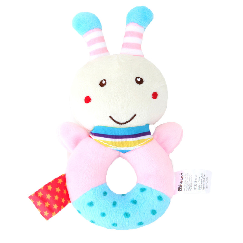 Baby Boy Girl Rattle Bed Animal Handbells Musical Developmental Toy Gifts Q