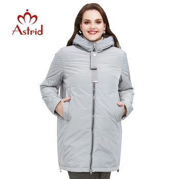 Astrid 2020 Spring new arrival women jacket outerwear high quality plus size mid-length style with zipper fashion  AM-8608 - discount item  64% OFF Parkas
