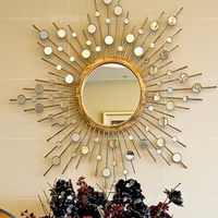 Bathroom Decorative Mirror Sun Mirror Metal Mirror