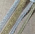 1 м новейшая высококачественная кружевная аппликация, золотая кружевная лента, отделка, гипюровые тканевые шнурки, швейные украшения, encajes ...
