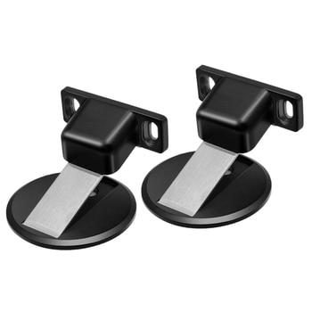 SHGO HOT-2 paquetes de Tope de puerta magnético de acero inoxidable, soporte de captura, imanes de montaje en el suelo, Tope de puerta, soporte de pared, Tope de puerta abierta