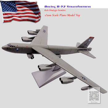 WLTK 1/200 Scale Military Model Toys B-52 Stratofortress Strategic Bomber Diecast Metal Plane Model Toy For Collection/Gift wltk 1 144 scale military model toys ty 95 tu 95 bear bomber diecast metal plane model toy for collection gift kids