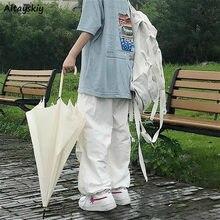 Pantaloni Donne 3XL High Street Harajuku Retro Pieghettato Collegio Chic Adolescenti di Lunghezza Completa Pantaloni Popolare Pieghettato Della Signora di Disegno Streetwear