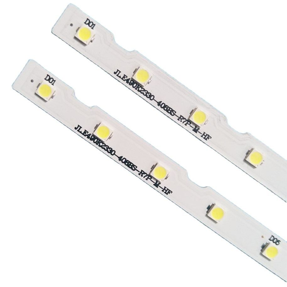 100% Новинка 2 шт./комплект светодиодный полоски для Samsung ТВ UE49NU7120U UE49NU7105K UE49NU7102K UE49NU7100W UE49NU7179U UE49NU7300K UE49NU7372U
