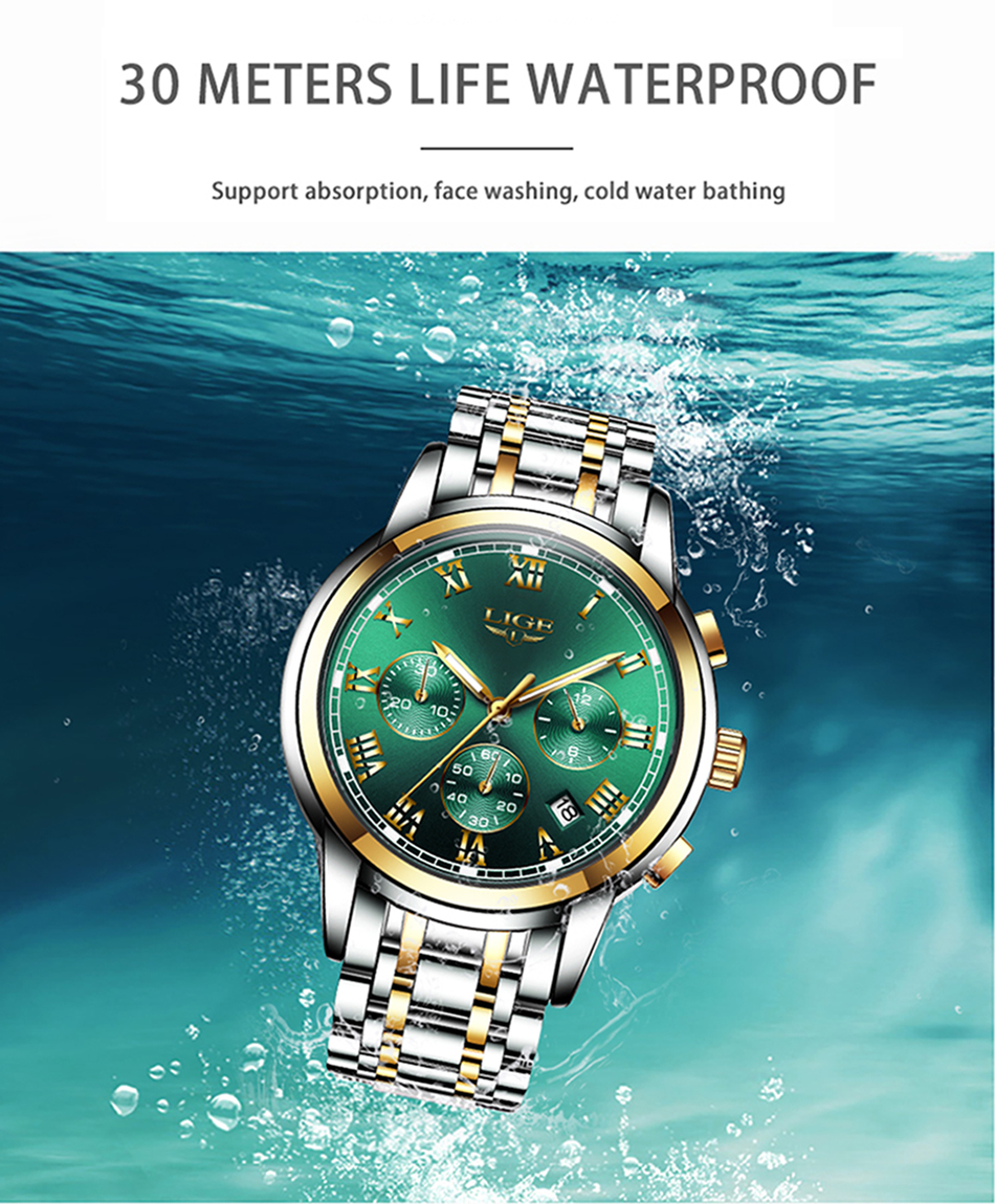H63e690dc7c894798aff32bc9d52230873 Relojes Hombre LIGE New Watches Men Luxury Brand Chronograph Male Sport Watches Waterproof Stainless Steel Quartz Men Watch