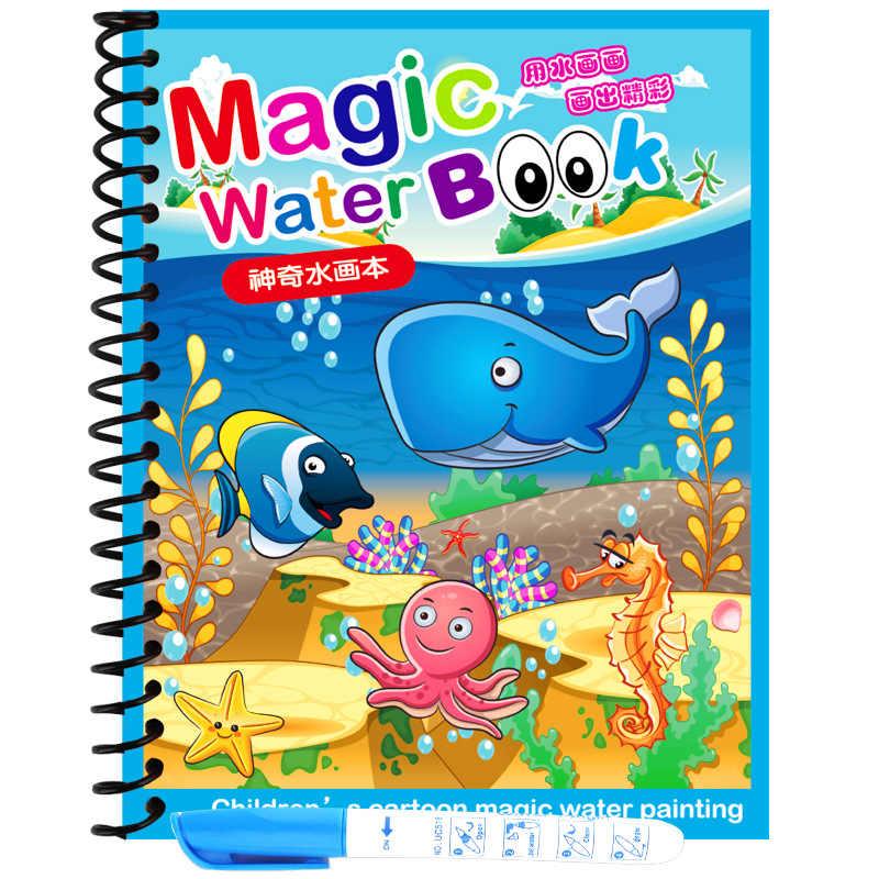 Pittura Tavolo Da Disegno Per I Bambini Montessori Giocattoli Magia Acqua Disegno Libro Regalo Di Compleanno Libro Da Colorare Doodle & Magic Pen