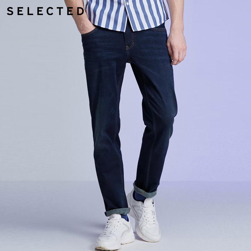 SELECTED Mens Casual Slim Fit Stretch Cotton Jeans | 419432523