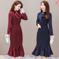 Autumn outfit will dress in new couture autumn fashion brim aristocratic temperament dress early autumn