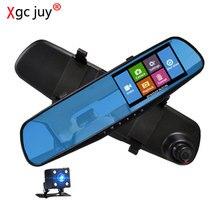 Xgc жюи 1080p автомобиль DVR сенсорный экран камеры автомобиля зеркало две камеры в-Dash кулачок видео рекордер зеркало заднего вида DVR автомобиля видеокамера