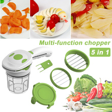 5 in 1 Vegetable Cutter Carrot Cheese Grater Food Grade Plastics Pitaya Multifunction Kitchen Accessories Cookware