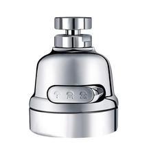 Kitchen Tap Spray Head 360 Degree Rotation Anti-Splash Shower Water Saving Faucet Sprayer Nozzle 3 Modes Connector Bubbler
