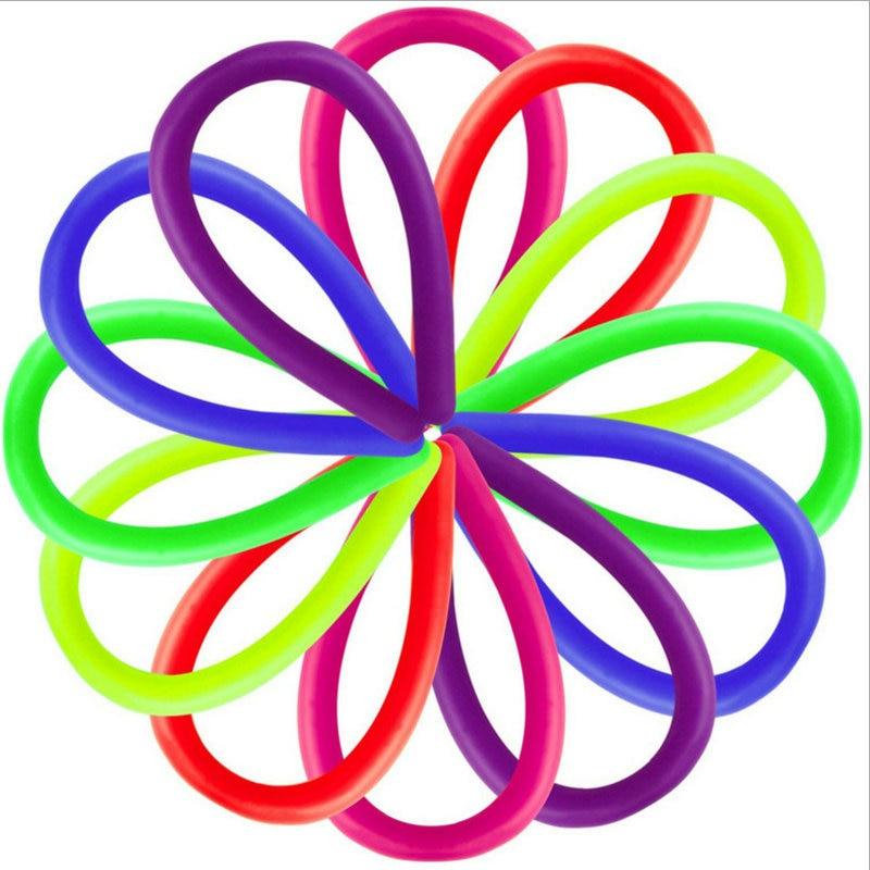 3PCS Children Adult Fidget Toys Anti-Stress Noodle Stretch String TPR Rope Autism Fidget Decompression Tools